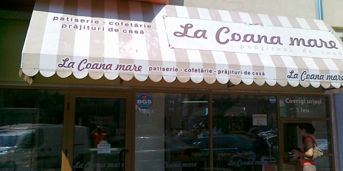 "Amenajare spatiu comercial – Cofetaria ""La Coana Mare"""